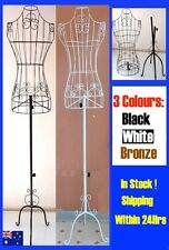 Black Or White Female Mannequin Torso Metal Wire Adjustable Height Display Model
