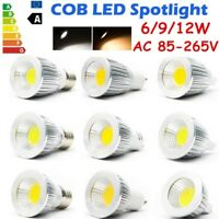 5/10PCS MR16/GU10/E27/E14 LED COB Spot Light Lamp 6/9/12W Ultra Bright 110/220V