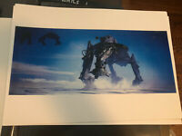 Star Wars Production Used Concept Art Print  Lucasfilm Droid Walker Snow Scout