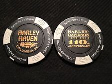 "Harley Davidson Poker Chip (110 ANNIVERSARY) ""Harley Haven"" Columbia, SC"