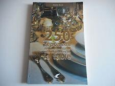 250 REPONSES AUX QUESTIONS SUR LES ARTS ET PLAISIRS DE PLAISIRS DE LA TABLE
