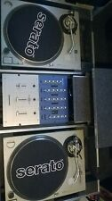 2 technics sl1200mk2 turntables in battle flight coffin with stanton mixer
