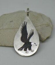 Navajo Sterling Silver Eagle Pendant by Larry Watchman Native American