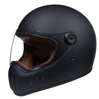 DOT Fiberglass Motorcycle Helmet Full Face w/Sun Visor Motocross Racing Helmet