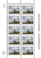 Nederland  2014 Vuurtoren Hoek van het IJ Amsterdam  vel van 10  postfris/mnh