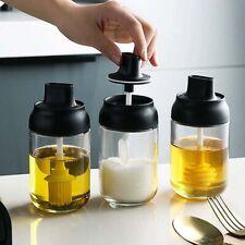 3Pcs/Sets Spice Jar Storage Seasoning Bottle Container Kitchen Box W/Lid 250mL`