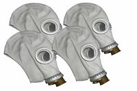 4pcs Soviet Civilian/Military  Gas Mask GP-5 grey rubber. Lot of 4 masks. New