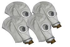 4pcs Soviet Civilian/Military Gas Mask Gp-5 grey rubber. Lot of 4 masks. New