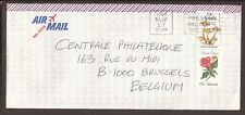 "Australia 1991 Airmail cover. ""Preston mail Centre VIC 3072"" franking. Flowers"