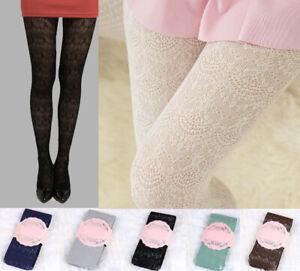 Romantic Retro Japanese Princess Lace Tights Lolita Soft Fishnet Open Mesh