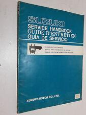 GENUINE SUZUKI  1980 - DEALER WORKSHOP MEASURING TOOL MANUAL