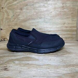 Skechers Air-Cooled Memory Foam Shoes Mens Size 12 Black Slip On Comfort 59997S