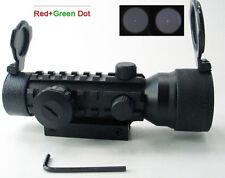New 2x42mm Triple Red Green Dot Optic Rifle Scope Sight 20mm Weaver Tri Weaver