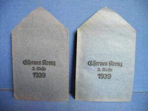 100 % Original Orden Verleihungstüte Eisernes Kreuz 2. Klasse iron cross- EK 2