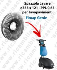 SPAZZOLA LAVARE  per lavapavimenti FIMAP GENIE. Modello: PPL 0.65  ø355 X 121