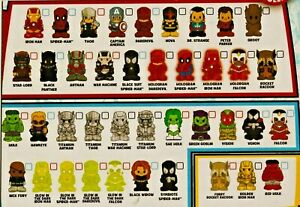 OOSHIES Common , Rare & Limited Edition Marvel Series 1 Collection