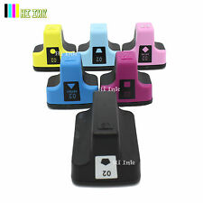 6 Pk 02 Ink Cartridge For HP 02 Photosmart C7280 3310 D7360 D7160  8250