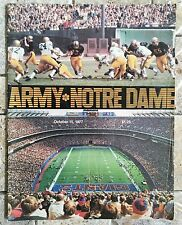 NOTRE DAME VS ARMY OCT 15, 1977 GAME PROGRAM w/JOE MONTANA