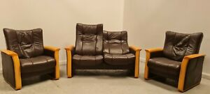 Himolla Leather 2 seater recliner sofa 2 x Chairs 140421