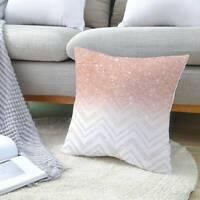 18' pink velvet Art Pillow Case Sofa Car Waist Throw Cushion Cover Home Decor KU