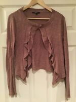 Mystree Anthropologie Light Purple Cardigan Sweater, Size Medium