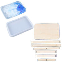DIY Handmade Epoxy Resin Craft Silicone Mould Large Square Plate Mold