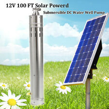 12V 2m3/h Farm Solar Power Brushless Screw Submersible 30M Deep Water Well Pump