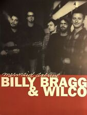 Billy Bragg & WILCO Mermaid Avenue 1998 Promo Poster  Jeff Tweedy FREE SHIPPING!