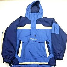 Columbia Pullover 1/2 Zip Women's Med Snowboard Ski Jacket Coat Blue Navy White