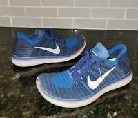 Nike Free Run Flyknit GS Coastal Blue Running Shoes 5Y Womens 6.5  (834362 402)