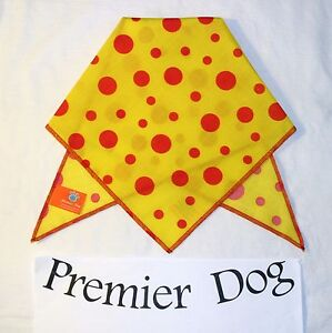 Yellow & Red Polka Dot Dog Bandana / Scarf - 3 sizes to choose from!