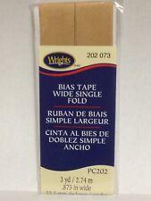 "Single Fold Bias Tape 7/8""X3yd Tan 070659132742"