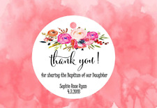 10 White Gift Tags Favour Bomboniere Thank you Personalised Baptism Christening