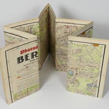 "Berlin City Street Map 1941 - 34x36"" Germany Capital Neukolln Wilmersdorf Mitte"
