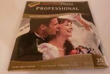 Jet Print Professional Photo Paper Brilliant Gloss Extra Heavy 25 Sheets Print