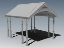 TRADITIONAL HERITAGE CARPORT / VERANDAH - V03 - Full Building Plans
