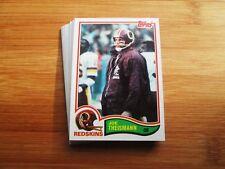 1982 Topps Washington Redskins TEAM SET