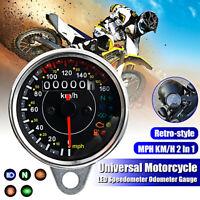 Motorcycle LCD Digital Indicator KMH MPH Speedometer Tachometer Odometer  C*//