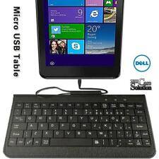 "Micro USB Leather Keyboard Plug and play For 7"" 8"" Dell Venue TABLET"