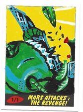 2017 TOPPS MARS ATTACKS THE REVENGE * SKETCH CARD 1/1  ARTIST JASMINE CONTOIS