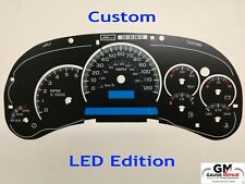 LED Edition Custom Gauge Face Overlay for 2003 04 05 GM Instrument Clusters New