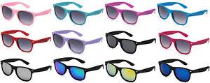 Kids Sunglasses Boys Girls Retro Rubberized Soft Frame AGE 3-12 UV 100%