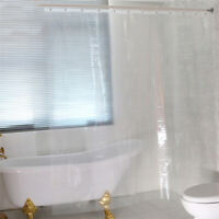 Bathroom PEVA Plastic Shower Curtain Transparent Splash Resistant Waterproof