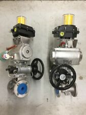 """Stainless Steel Ball Valve 1"""" 150 INLINE Actuated RF FP W/ ASCO Limit Switch"""