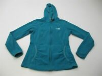 THE NORTH FACE Sweater Women's Size S Micro Fleece Stretch Blue Full Zip Hoodie
