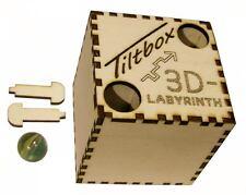 Tiltbox 3D-Labyrinth mit Kugel Magic Cube Spielzeug aus Holz mit Lasergravur