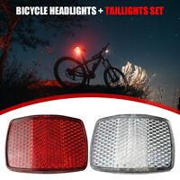 Bicycle Handlebar Front Reflective Light MTB Bike Rear Warning Reflector Lamp US