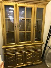 From CaliforniaVintage  Gold gilded China Cabinet/Display Cabinet Shabby Chic Pr