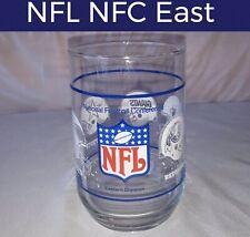 🏈VINTAGE NFL NFC EASTERN DIVISION FOOTBALL GLASS-EAGLES REDSKINS COWBOYS GIANTS