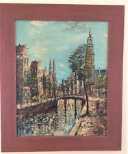 MID CENTURY ABSTRACT PAINTINGS OIL of Amsterdam